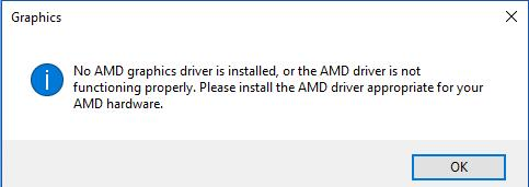 Solved: No AMD Graphics Driver is Installed on Windows 10