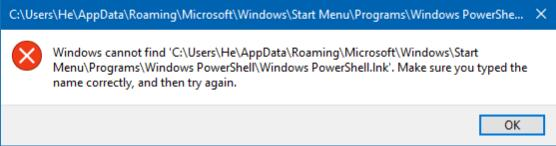powershell missing problem