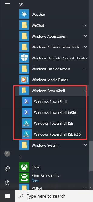 windows powershell start