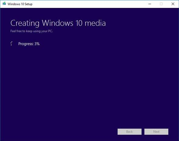 creating windows 10 media