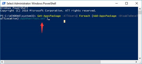 getappxpackage in windows powershell