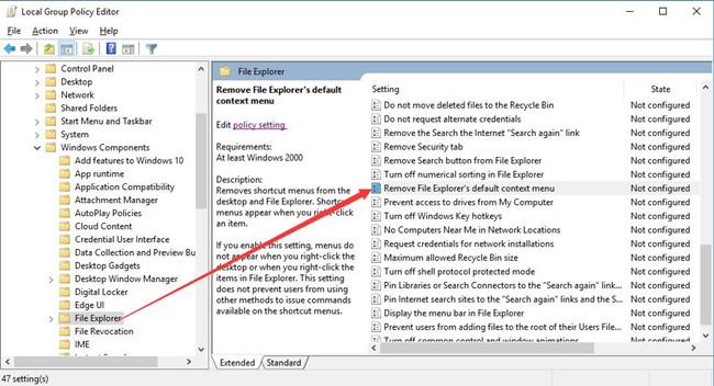 remove file explorer default context menu