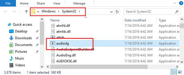 audiodg.exe memory leak windows 7 fix