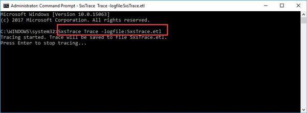 sxsrace login file and sxstrace.etl