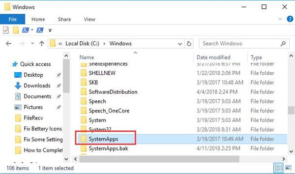 system apps folder