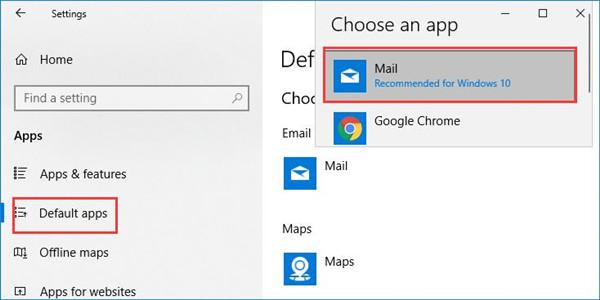 set mail as default app