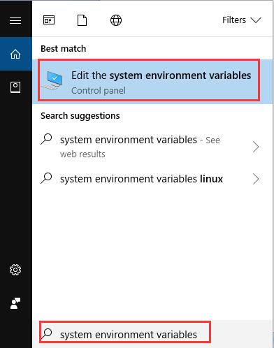 system environment variables