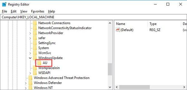 au under windows update