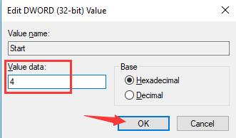 change start key value data to 4
