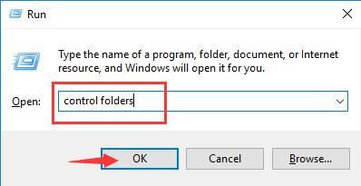 control folders in the run box