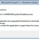 Solved: Atibtmon.exe Runtime Error on Windows 10
