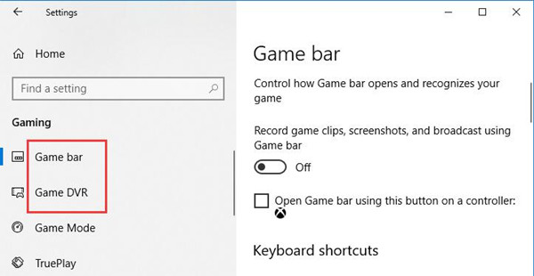 how to disable game bar windows 10