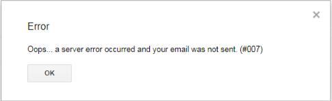 how to fix gmail error 007 windows 10