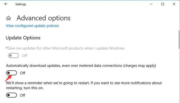 turn off automatic windows update