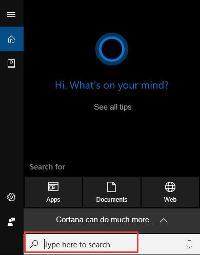 windows 10 search cannot find any applications