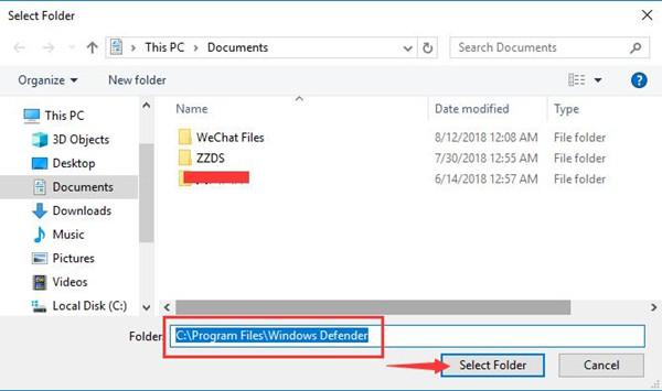 c program files windows defender
