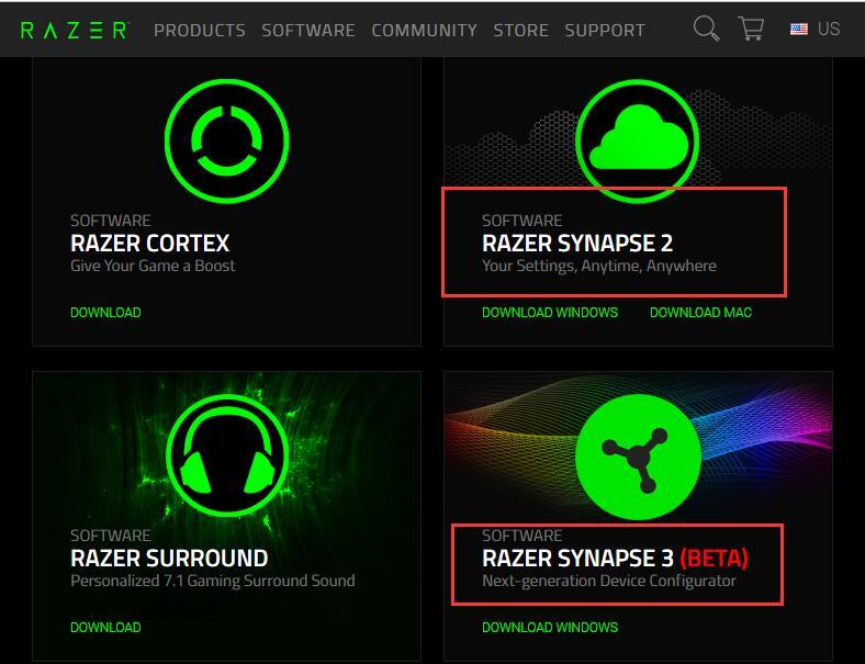 download razer synapse manually