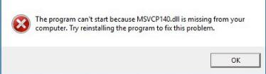 msvcp140.dll missing