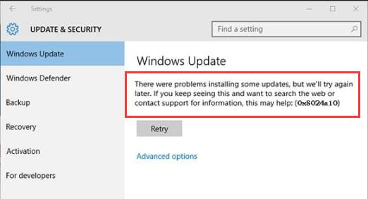 Fixed Windows Update Error 0x8024a105 Windows 10 Skills