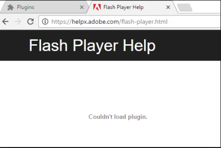 could not load plugin in chrome windows 10
