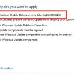 Fixed: Potential Windows Update Database Error Detected