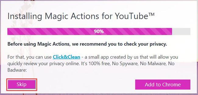 skip click clean app