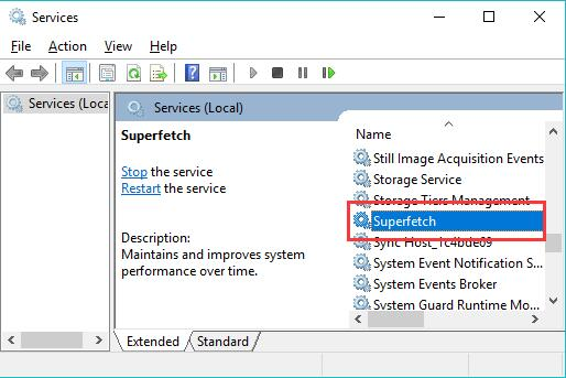how to close superfetch windows 10