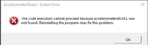 accelerometerst.exe system error