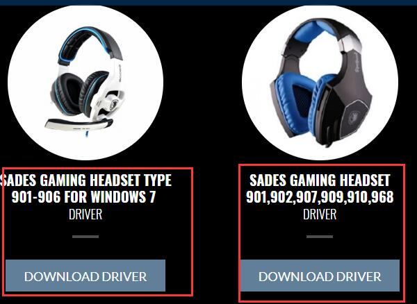 sades headset driver in sades official site