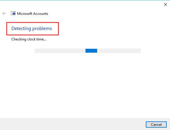 detecting microsoft account problems