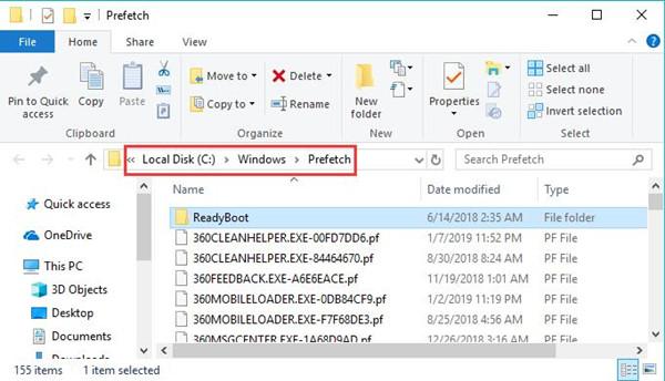 prefetch files in file explorer