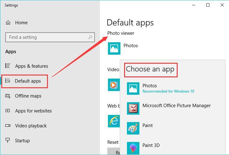 set a default photo viewer application