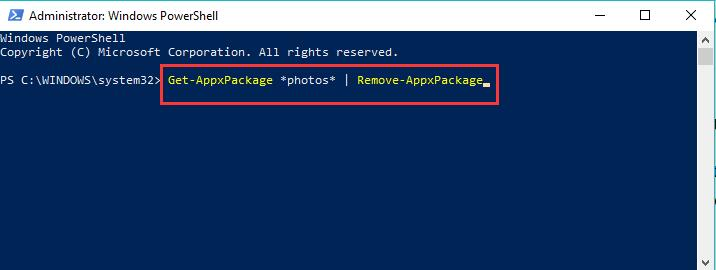 uninstall applications in powershell