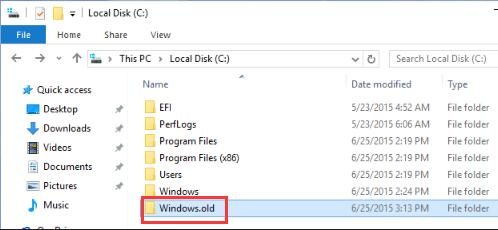 what is windows.old folder