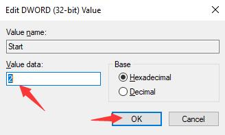 change rpcss start value to 2