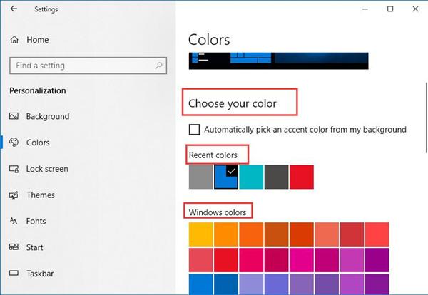 choose a theme color