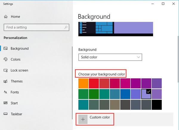 choose your background color