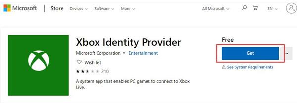get xbox identify provider