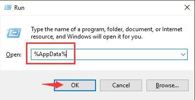 appdata in run box