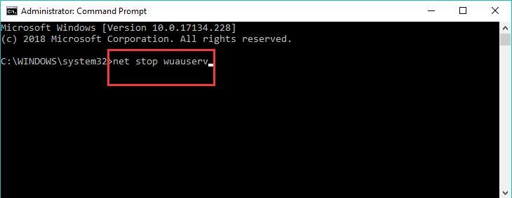 command prompt delete softwaredistribution folder