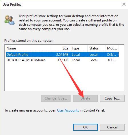 delete user profiles