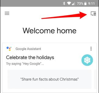 device icon in google home app