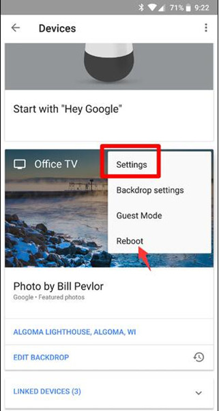 google home app settings