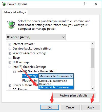 Windows 10 best performance options for crusor