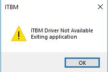 itbm driver not available on windows 10