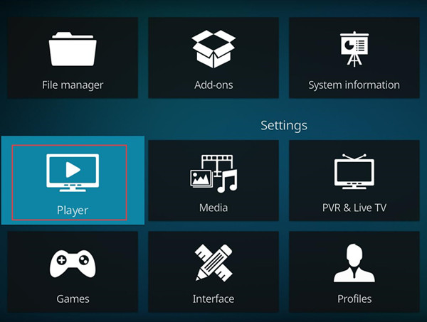 player in kodi