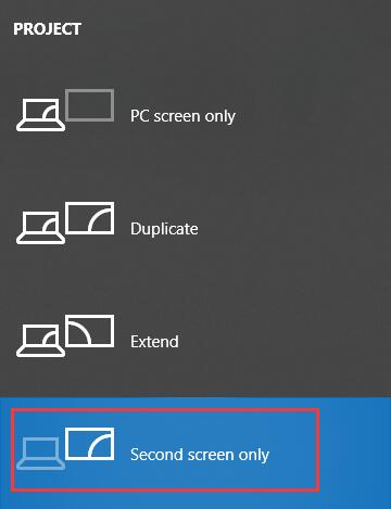 second screen only