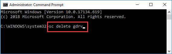 uninstall gigabyte services