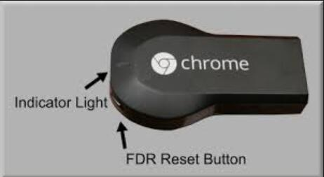 use chromecast reset button