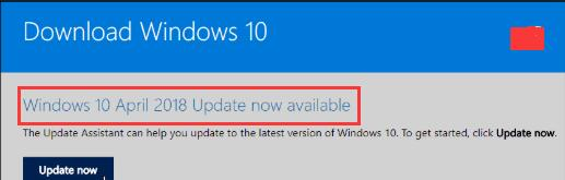 windows 10 april 2018 update now available